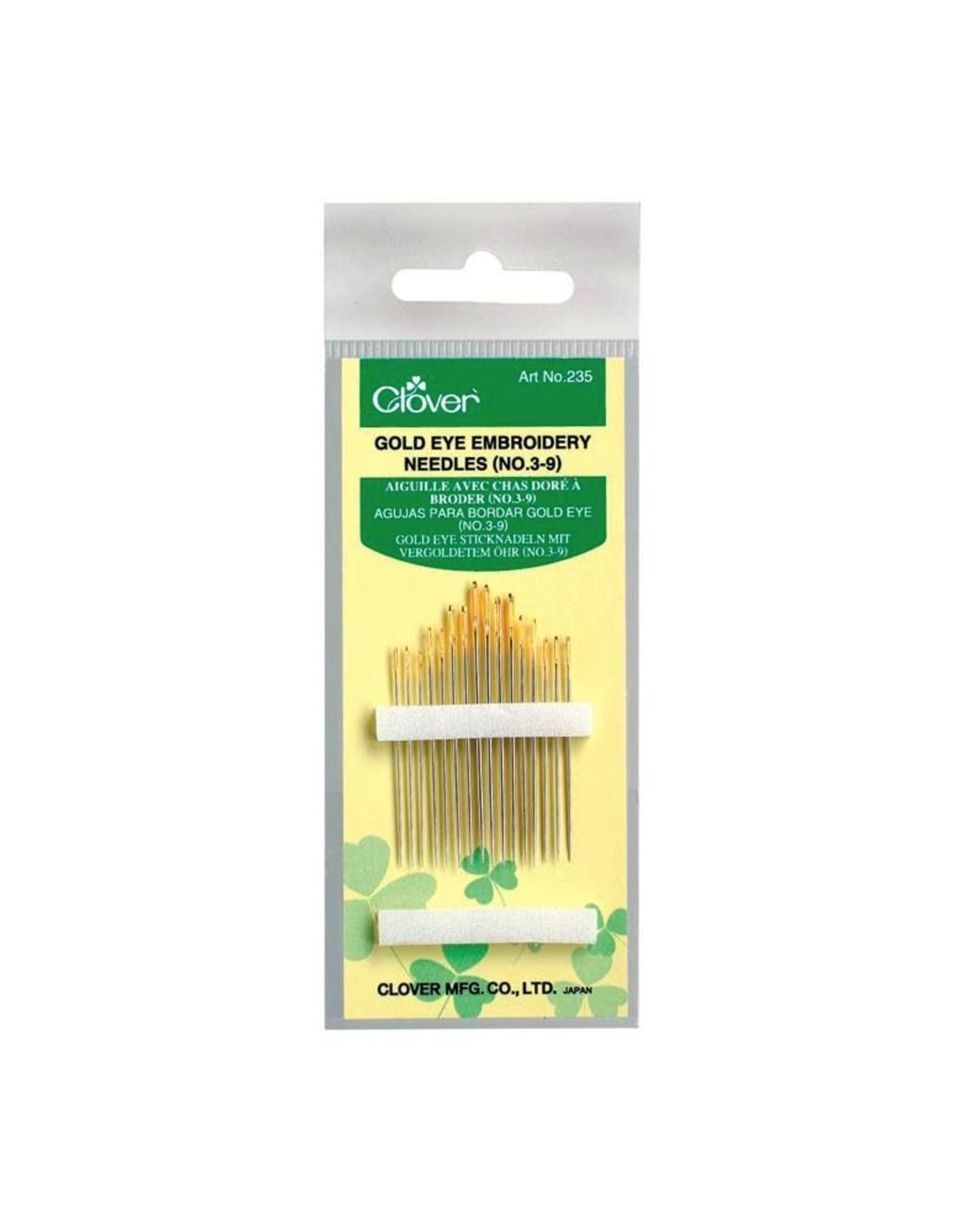 Clover Gold Eye Embroidery Needles