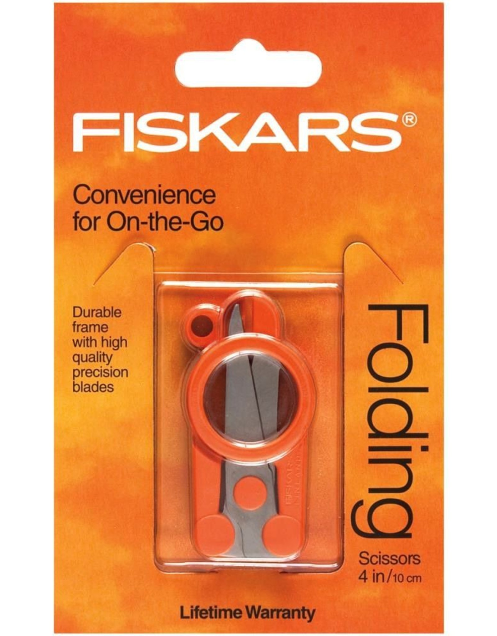 "FISKARS Folding Scissors 4"", Orange"