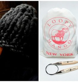 Loopy Mango DIY Kit - Helsinki Hat Charcoal