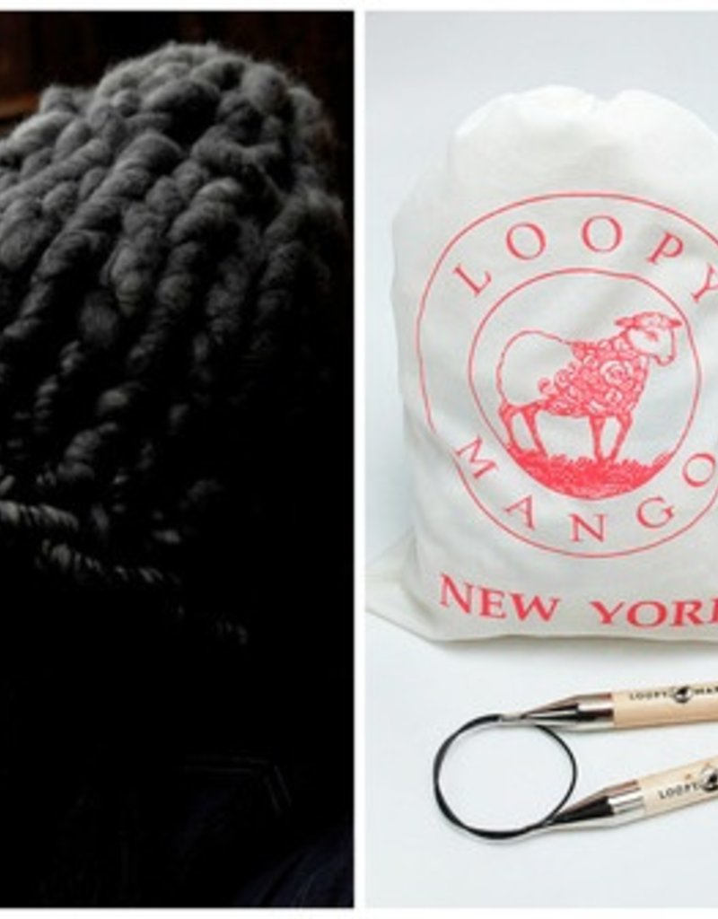 Loopy Mango DIY Kit - Helsinki Hat - Charcoal by Loopy Mango