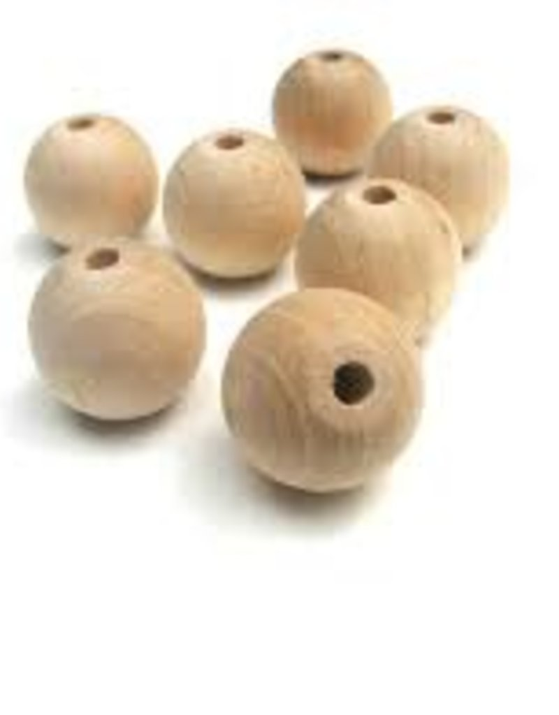 Wood Turn-round bead - 5 pack - 20mm