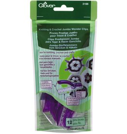 Clover Jumbo Wonder Clips Knitting & Crochet 12/Pkg