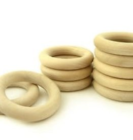 "Yarn it & Haberdashery Natural Wood Teether Ring 2 2/8"" (56mm)"