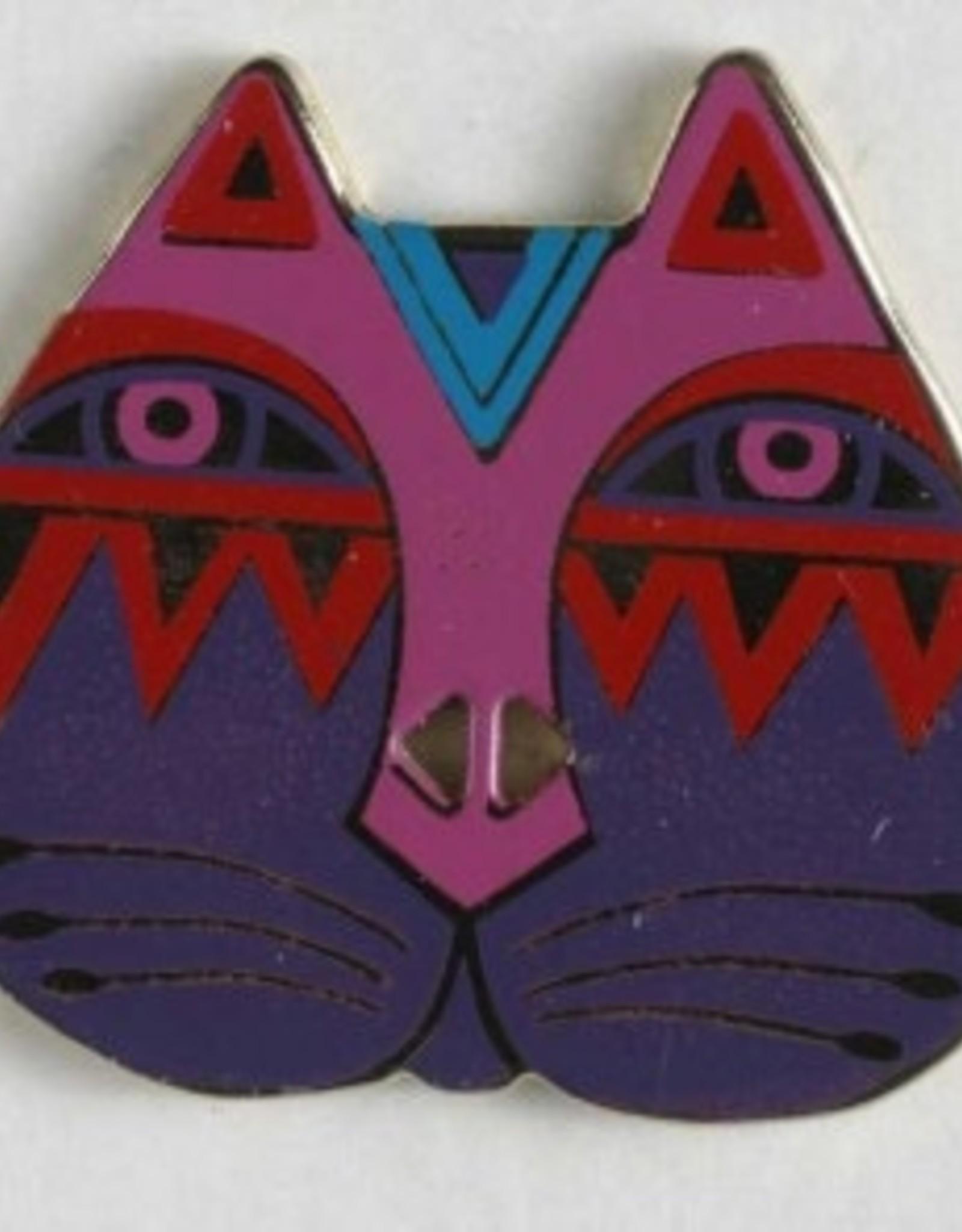 Dill Laurel Burch Button - Cat Face, 28mm