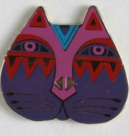 Dill Laurel Burch Button - Cat Face, 28mm