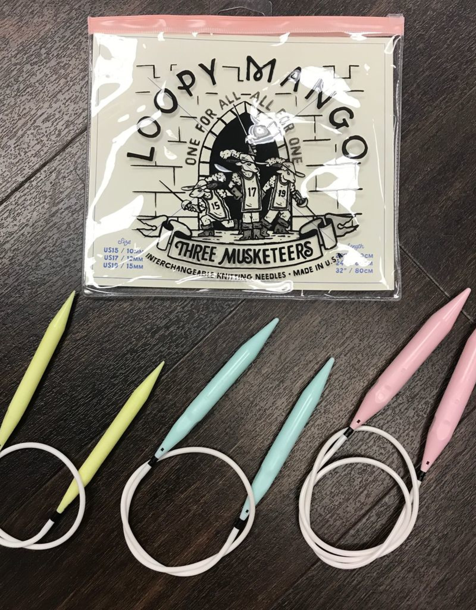 Loopy Mango 3 Musketeers Interchangeable Needle Set