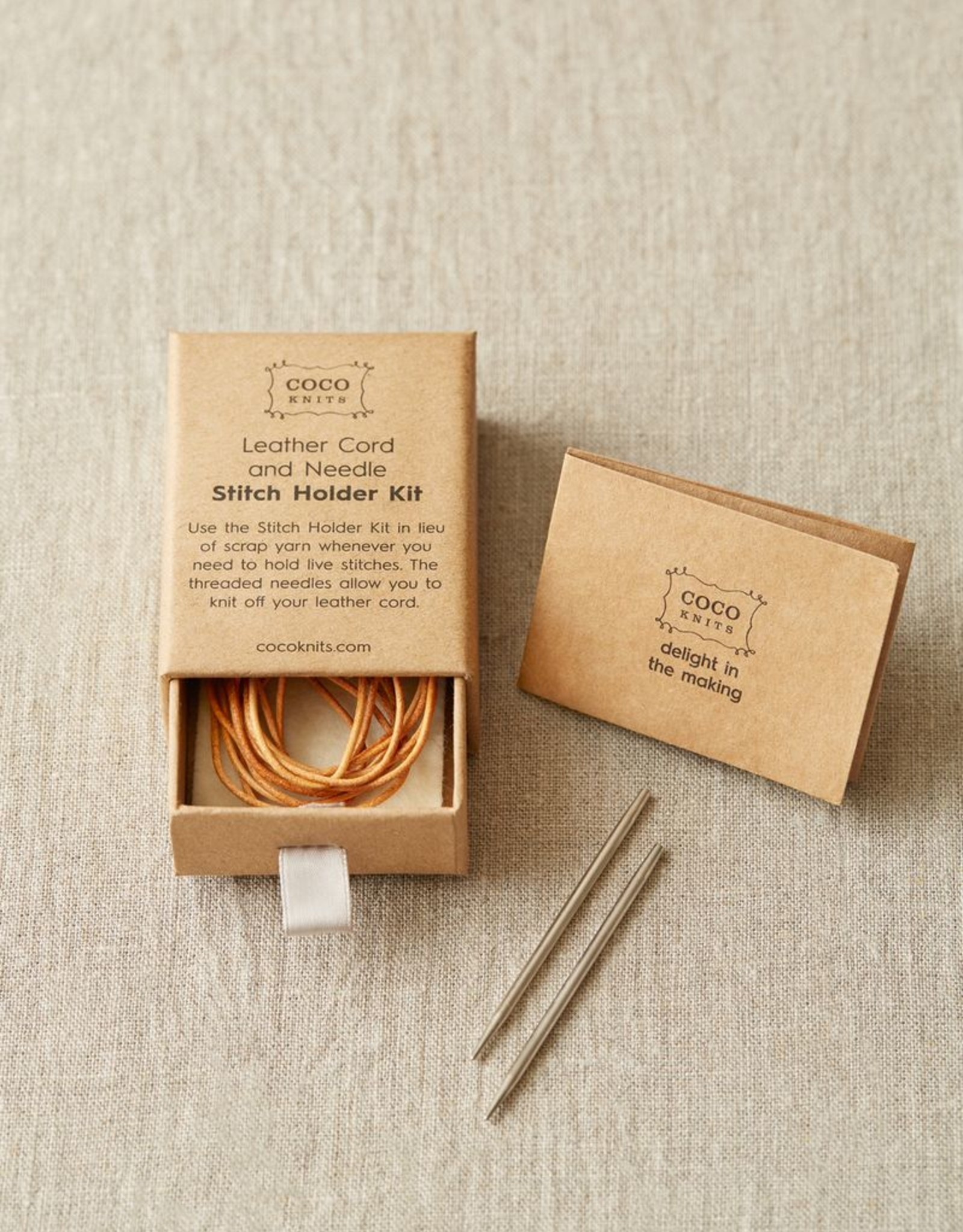 Cocoknits Leather Cord and Needle Stitch Holder Kit