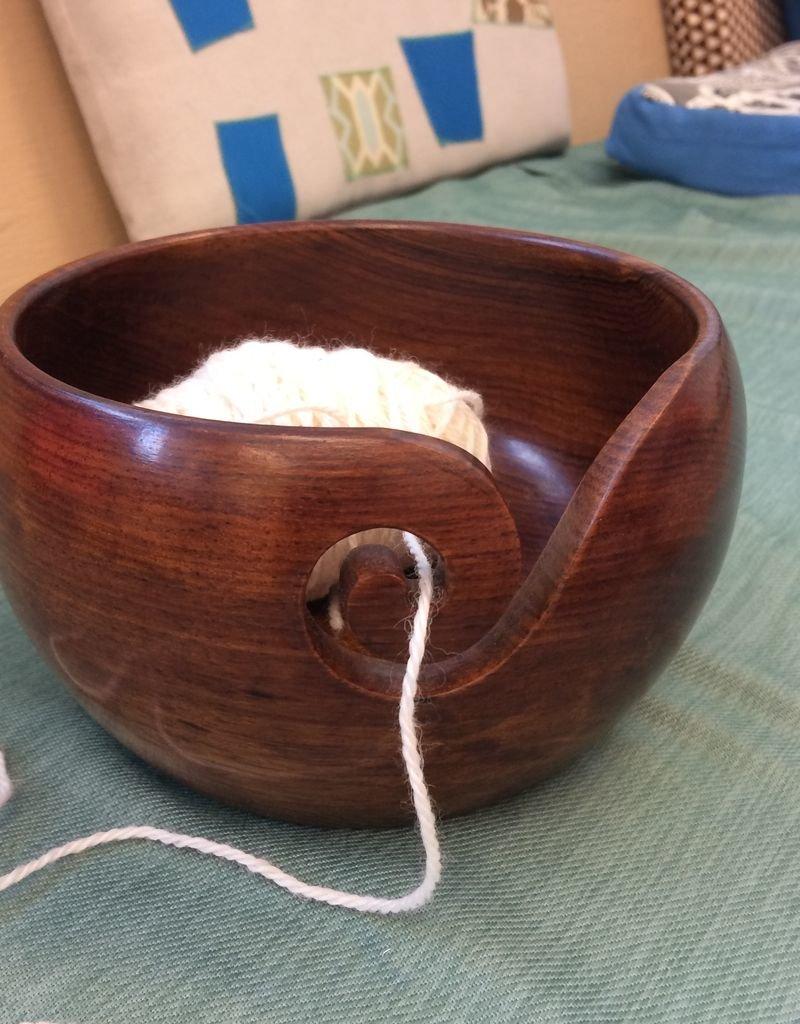 Aalta Yarn Wood Yarn Bowl by Aalta Yarn