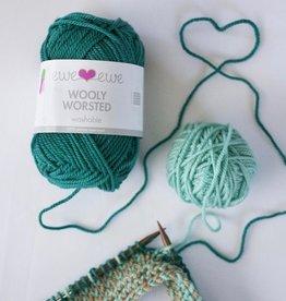 Ewe Ewe Wooly Worsted by Ewe Ewe Yarns - Blues, Greens, & Purples