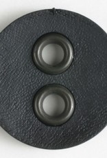 Dill Black Button with Metal Holes, 23 mm