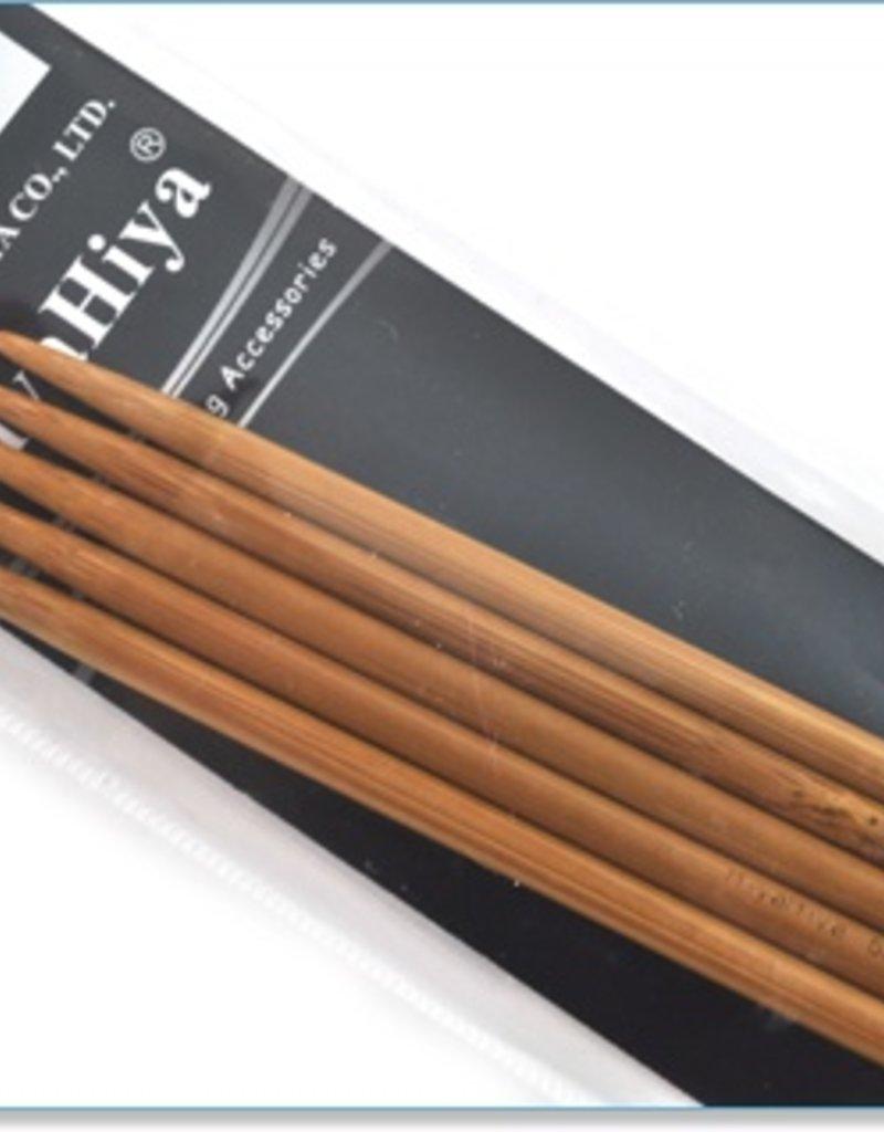 "Hiya Hiya HIya Hiya Bamboo Double Pointed 6"" Needle"