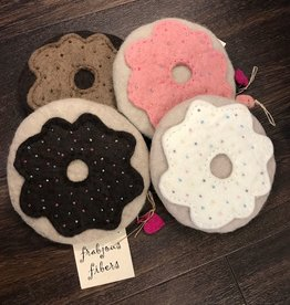 Frabjous Fibers Doughnut felted notions bag