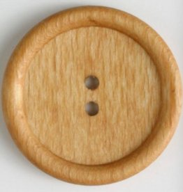 Dill Wood Button 45mm - Natural