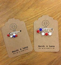 Heidi & Lana Heidi and Lana Stitch Markers - Patriotic