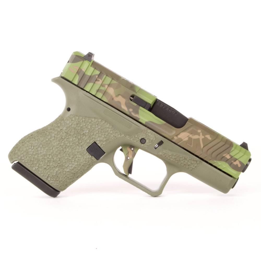 Agency Arms Agency Arms Glock 43 Green Frame Hybrid Tropic Multicam Cerakote