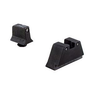 Trijicon Trijicon Glock 3 Dot Supressor Night Sight Set Black Front / Black Rear with Green Lamps