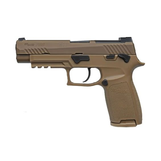 "SIG SAUER Sig Sauer P320 M17 Manual Safety 9MM 4.7"" SIGLITE Sights Coyote"