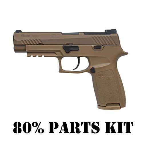 "SIG SAUER Sig Sauer P320 M17 No Safety 9MM 4.7"" SIGLITE Sights Coyote (80% Parts Kit)"