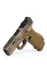 Agency Arms Agency Arms Glock 19X Gavel w/ Windows Battle Worn Coyote, Standard Stipple