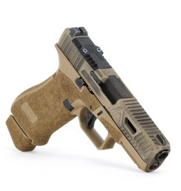Agency Arms Agency Arms Glock 19X Gavel w/ Windows Battle Worn Coyote, RMR, Standard Stipple