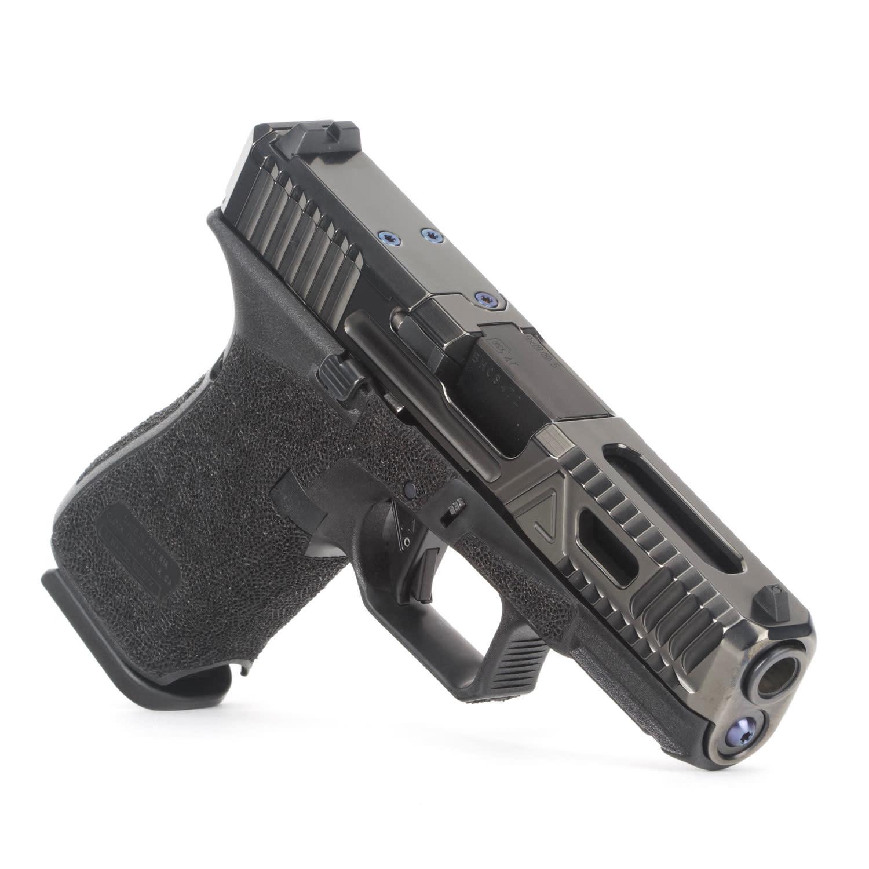 Agency Arms Agency Arms Glock 19 Gen5 Urban Combat Extra Serrations Polished DLC, AOS, Standard Stipple