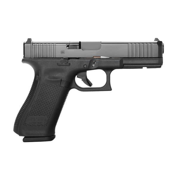"Glock Glock 17 Gen5 MOS Front Serrations 9MM 4.48"" Fixed Sights Black (Blue Label)"