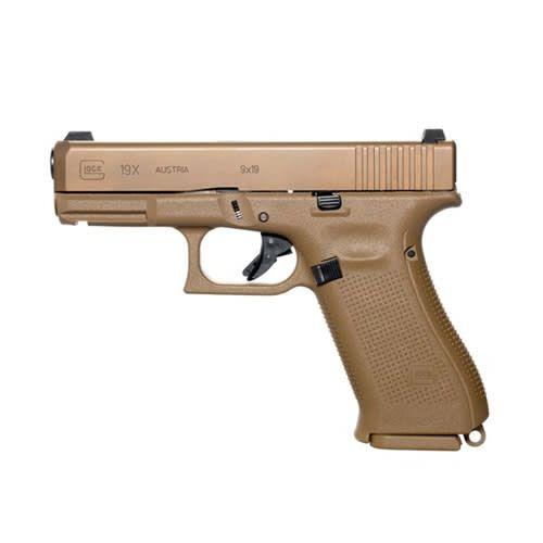 """Glock Glock 19X Gen5 9MM 4"""" Glock Night Sights FDE (Blue Label)"""