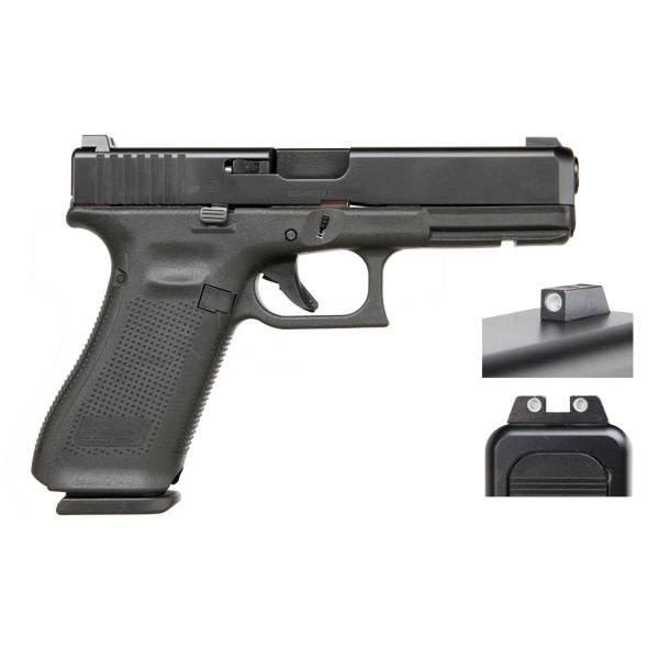 "Glock Glock 17 Gen5 9MM 4.48"" Night Sights Black (Blue Label)"