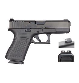 "Glock Glock 19 Gen5 9MM 4"" Night Sights Black (Blue Label)"
