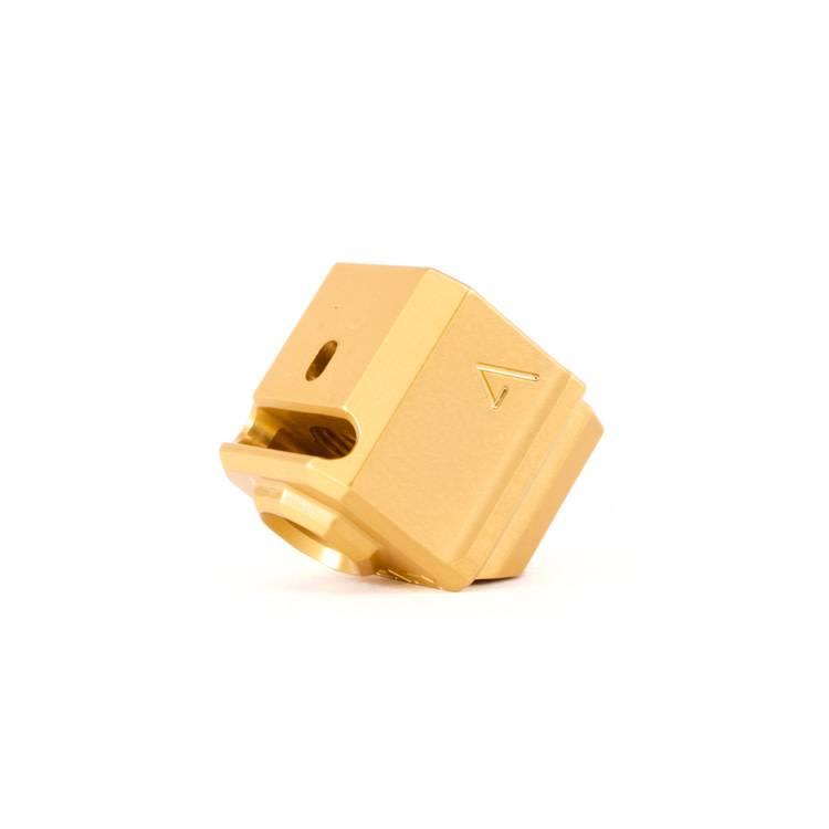 Agency Arms Agency Arms 417S Single Port Glock Gen3 Compensator - Gold