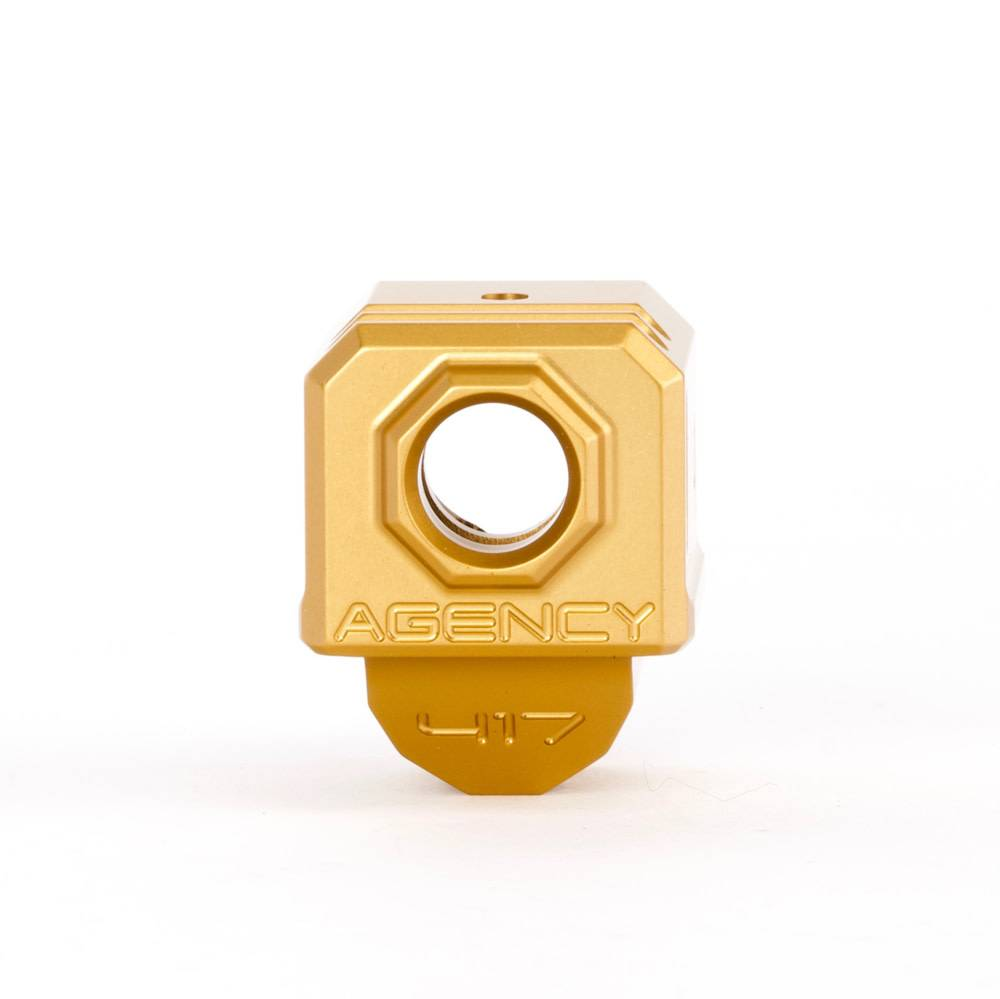 Agency Arms Agency Arms 417 Glock Gen3 Compensator - Gold