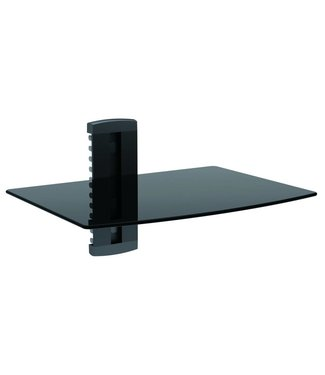 Single Shelf Wall Mount - Holds Cable Box, DirecTV, Blu Ray Player, Video Game System