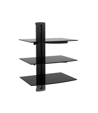 Triple Shelf Wall Mount - Holds Cable Box, DirecTV, Blu Ray Player, Video Game System