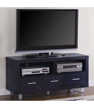 Coaster Contemporary Black Oak TV Console Stand 700644