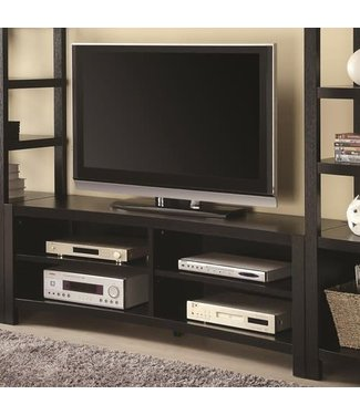 Coaster Curved Cappuccino TV Console Media Stand 700697