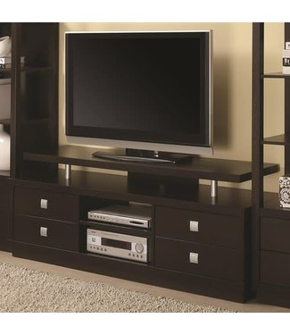 Coaster Casual Cappuccino TV Console Stand with Floating Shelf 700696
