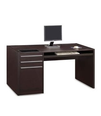 Coaster Cappuccino Connect-It Computer Desk with Built in Power and File Cabinet 800982
