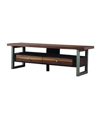 Coaster Wide Based Traditional Industrial Walnut TV Console Stand 701034