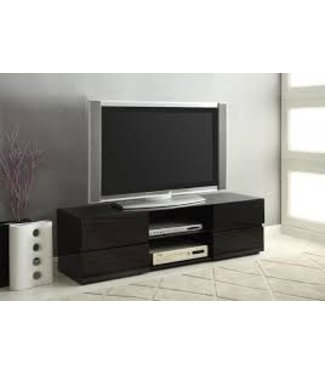 Coaster Contemporary Modern Glossy Black TV Console Stand 700841