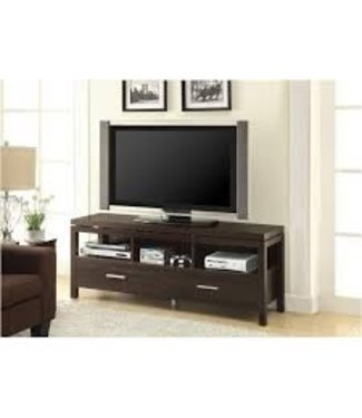 Coaster Transitional Dark Brown Wooden TV Console Media Stand 701971