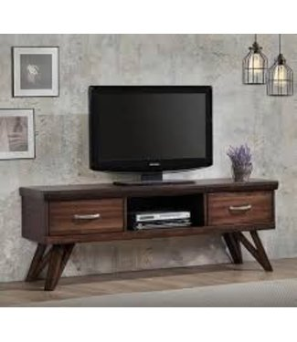 Coaster Traditional Rustic Walnut TV Console Media Stand with Drawers 721531