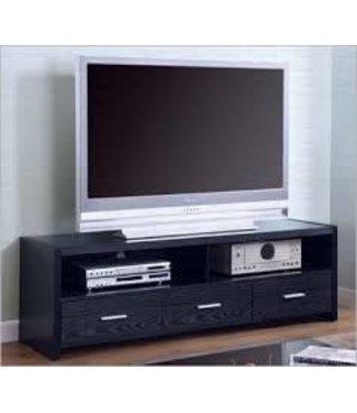 "Coaster 61"" Wide Black 700645 Coaster TV Stand Console"