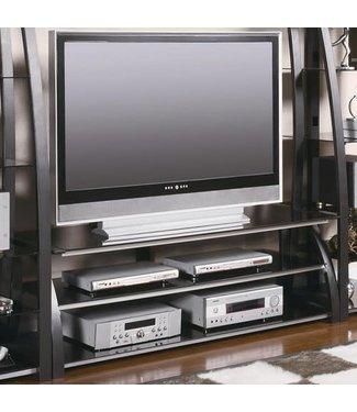 """Coaster 60"""" Wide Silver/Matte Black 700681 Coaster TV Stand Console"""