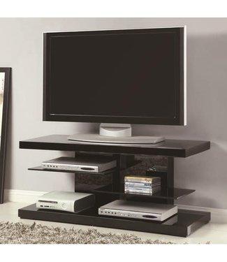 "Coaster 47"" Wide Glossy Black 700840 Coaster TV Stand Console"