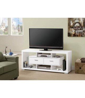 """Coaster 59"""" Wide White 700113 Coaster TV Stand Console"""