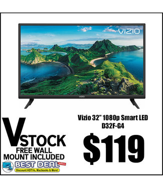 """Vizio V STOCK NO STAND 32"""" Vizio 1080p LED Smart D32F-F1/D32F-G4"""