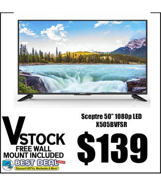"V STOCK NO STAND 50"" Sceptre 1080p X505BVFSR"