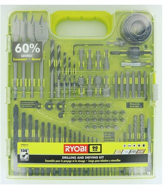 RYOBI Drill and Drive Kit (90-Piece) **NOTE- MISSING PIECES, DISCOUNTED**