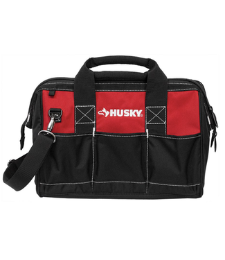 Husky 15 in. 8 Pocket Zippered Tool Bag **DISCOUNTED NO STRAP**