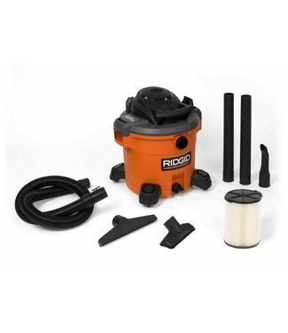 RIDGID 12 Gal. 5.0-Peak HP NXT Wet/Dry Shop Vacuum with Filter, Hose and Accessories **DISCOUNTED MISSING WHEELS & HOSE**